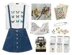 """""""like little girl 🌸"""" by lilyjey ❤ liked on Polyvore featuring MANGO, WithChic, Zipz, GUESS and Cavallini & Co."""