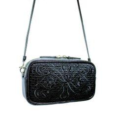 c4c91abbfde96 GOSHICO: Skórzana torebka z haftowanym frontem do ręki i na ramię Fancy