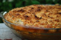How to Make Rhubarb Pie with Almond Crumb Topping by Cheftalk.com community member and Pro Chef, Peter Martin