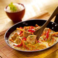 N° 49 : Poulet coco sauce au curry jaune
