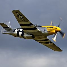 """'North American Mustang """"Ferocious Frankie""""' by Andrew Harker Ww2 Aircraft, Fighter Aircraft, Military Aircraft, Air Fighter, Fighter Jets, Airplane Car, Old Planes, P51 Mustang, Supermarine Spitfire"""