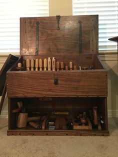 Dutch Tool Chest Completed! Walnut/PureTungOil/PasteWax - Album on Imgur