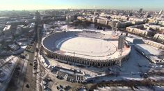 winter Minsk from above