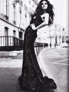 Baile de Etiqueta - Bojana Panic in Elie Saab for Vogue España May 2011