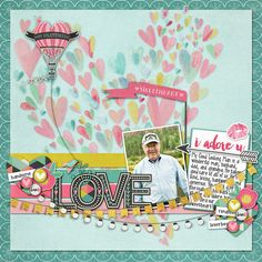 """""""Love You"""" by Connie created with February 2015 Collection """"Love Story"""" by Michelle Coleman found only at Little Dreamer Designs 