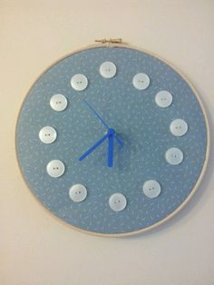 button clock made by me x