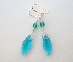 Crystal Seas Earrings by BirdysNest on Etsy, $17.00