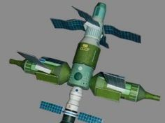 Mir Space Station Free Paper Model Download