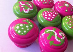 The Lilly Nautical Colleciton Pink and Green by TheLittleNursery, $48.00