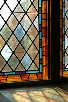arts and crafts stained glass window idea