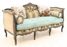 Cowgirl Chic Sofa---omg i love this look for my bedroom or living room (Randall's Bedroom & Living Room)