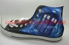 custom doctor who converse handpainted shoes