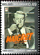 Detective Fiction on Stamps: Simenon / Maigret.