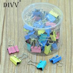 Realiable home necessities 2017  60x Colorful Metal Paper File Ticket Binder Clips 15mm Office School Supply Clip #0728 B. Yesterday's price: US $2.41 (1.97 EUR). Today's price: US $2.41 (1.98 EUR). Discount: 31%.
