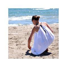 crossed dress, white fabric