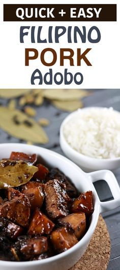 This widely popular Filipino Pork Adobo dish is popular for a GOOD reason!! It uses extremely simple ingredients, is easy to make and tastes exquisite! | ScrambledChefs.com