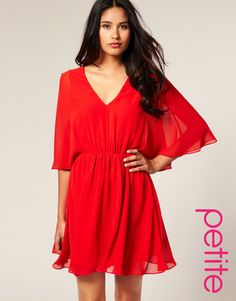 Asos Petite Chiffon Kaftan Dress