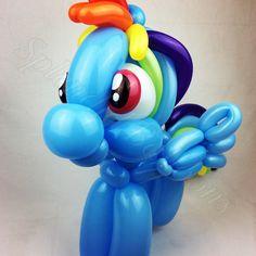 Balloon art, amazing, cool, party, splendid balloons, John Justice, cute, adorable Party ideas, my little pony, rainbow dash, little girls, cute, rainbow, dash, pony