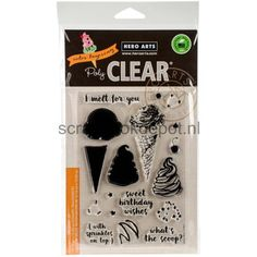 HeroArts Clear stamps 4x6inch Color Layering Ice Cream