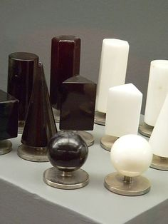 Modern Design Alabaster Chess Set by G Bessi of Italy 1960   Flickr - Photo Sharing!