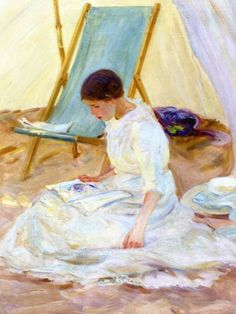 In the Tent - Helen Galloway McNicoll Canadian 1879-1915