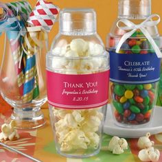 Personalized Cocktail Shaker Favors