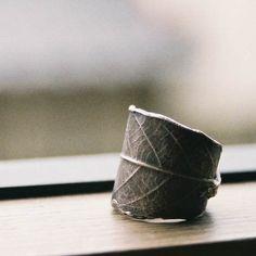 Leaf Ring. $80.00, via Etsy.
