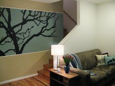 Enhance a bare wall with a one-of-a-kind mural. All you need is paint and a projector.