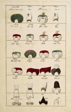 Mesleğe göre sarıklar The Turk, Medieval Clothing, Ottoman Empire, Ottomans, Vintage Costumes, Persian, The Past, Embroidery, History