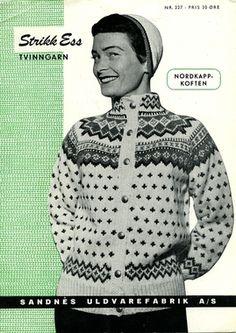 Bilderesultat for norske strikkemønstre Fair Isle Knitting, Hand Knitting, Norwegian Knitting, String Bag, Pattern Library, Knit Picks, Vintage Knitting, Knit Jacket, Knitted Bags