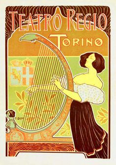 """art nouveau in Italy """"Stile Liberty"""", poster by G.Boano"""