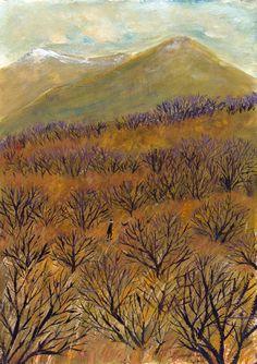 Iceland by Oamul Lu Illustration Sketches, Art Sketches, Painting Inspiration, Art Inspo, Arte Popular, Mellow Yellow, Plein Air, Magazine Art, Art Sketchbook