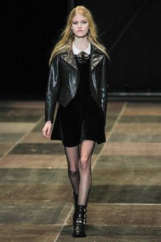 Hedi Slimane's fixation with tarted-up American bad girls continues for fall at YSL