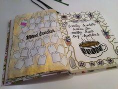 November- bullet journal moodtracker with tea bags!