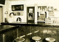 In the 1930s my paternal grandpa ran a bar and gas station in tiny Fairdale, IL. This is a picture of his wife, Ann, behind the bar...probably circa 1938