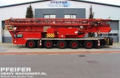 Used tower crane available at Pfeifer Heavy Machinery. Item Number PHM-Id 07239, manufacturer SPIERINGS, model SK599-AT5, year of construction 2005, kilometers 167029,  hours carrier 1695, hours superstructure 3645, loading (lifting) capacity (kg) 9000, fuel Diesel. More cranes at www.pfeifermachinery.com.