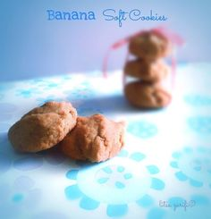 Banana soft cookies | Dairy-Free Dairy Free Recipes, Paleo Recipes, Cookie Recipes, Gluten Free, Biscuit Donuts, Biscuits, Free Food, Clean Eating, Banana