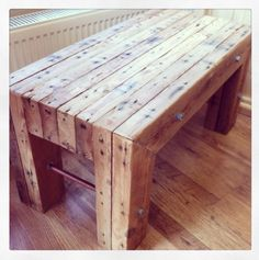 Coffee table made with reclaimed timber with an urban twist. emlyncreative.com