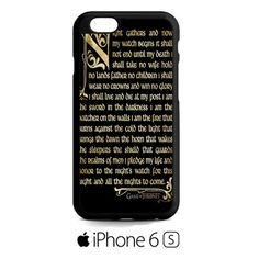 Game Of The Thrones Nights Watch iPhone 6S  Case