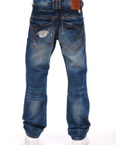 Akoo rip and tear denim jeans - MAN OF FASHION