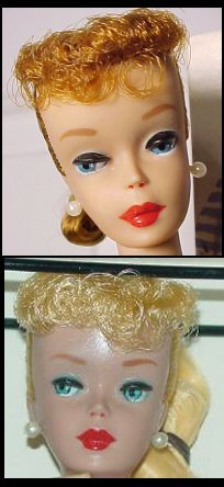 Number Five Ponytail Vintage Barbie Doll, Vintage Barbie Dolls --- many #5 dolls have a greasy look due to the use of vinyl.