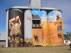 I'm not sure if this has been shown before, it is silos at Weethalle, NSW depicting farming of the area.