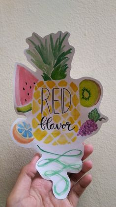 Fruit watercolor - Red Flavor - Inspired by: Red Flavor- Red Velvet . 14/10/2017