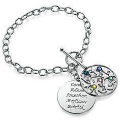 Sterling Silver Filigree Tree of Life Bracelet | MyNameNecklace