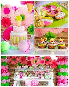 Colorful Ice Cream themed birthday party