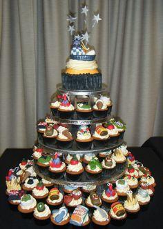 Kiwiana themed cupcake cake with goodnight kiwi cake topper Cake Cookies, Cupcake Cakes, Cupcake Ideas, Kiwi Cake, New Zealand Food, Kiwiana, Themed Cupcakes, Party Themes, Party Ideas
