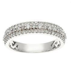 <li>1/2 CT TW Diamond Bridal Ring</li><li>14k White Gold Jewelry</li><li><a href='http://www.overstock.com/downloads/pdf/2010_RingSizing.pdf'><span class='links'>Click here for ring sizing guide</span></a></li>