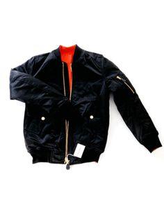 A.O.cms Bomber Jacket, sort - Unisex jakke – www.wabi-sabi.dk