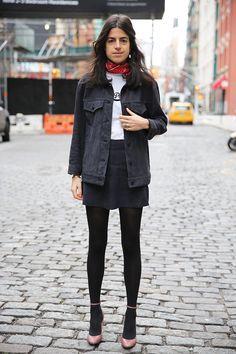 leandra medine bandana street style - Google Search