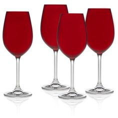 Godinger Red Meridian Red Color White Wine Glasses - Set Of 4 ($24) ❤ liked on Polyvore featuring home, kitchen & dining, drinkware, red, godinger drinkware, colored drinkware, godinger, white wine glasses and white wine glass